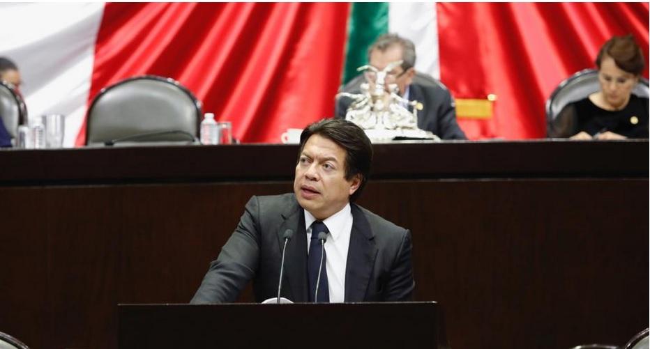 Mario Delgado, coordinador de la bancada de Morena.