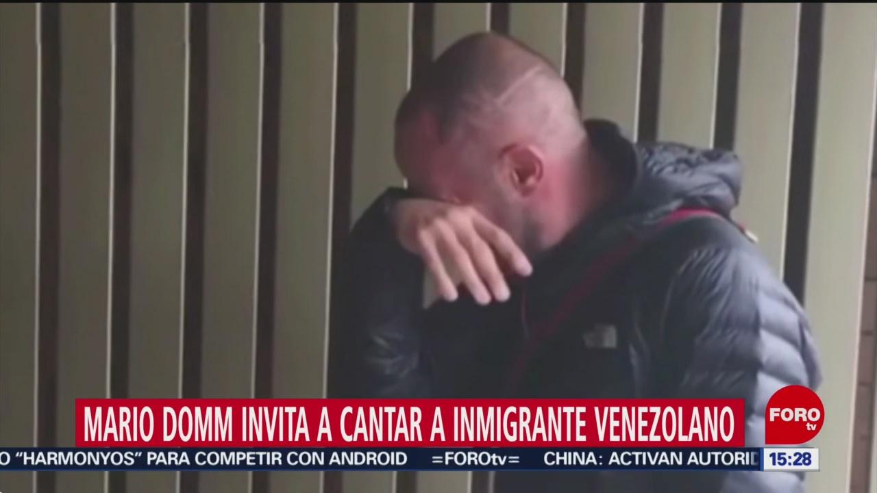 Foto: Mario Domm Invita Cantar Inmigrante Venezolano