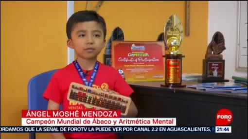 Foto: Moshé Campeón Mundial Cálculo Mental China 1 Agosto 2019