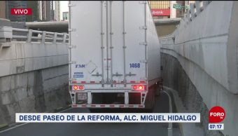 Muere una persona en Paseo de la Reforma, CDMX
