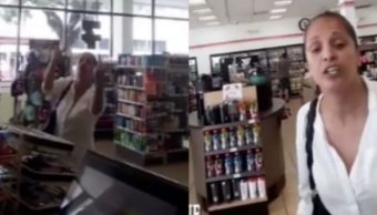 Foto Mujer racista insulta a empleado latino de una tienda 13 agosto 2019