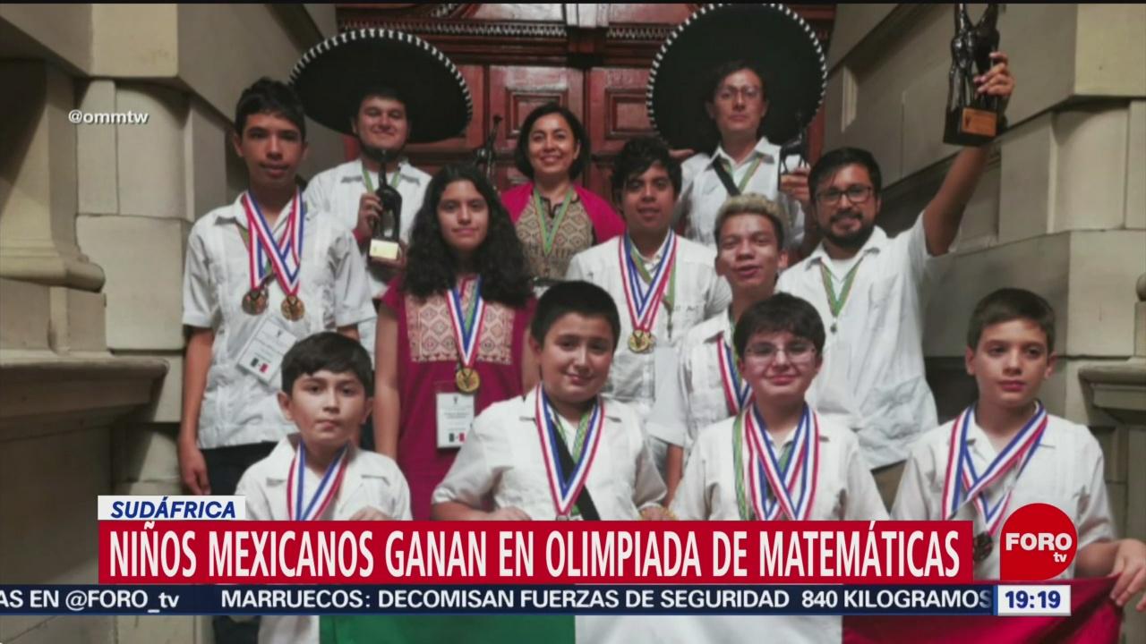 Foto: Niños Apoyados Guillermo Del Toro Ganan Olimpiada Matemáticas 6 Agosto 2019
