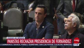 FOTO: Panistas rechazan presidencia de Fernández, 31 Agosto 2019