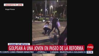 FOTO: Video Pareja Golpea Mujer Paseo Reforma CDMX, 20 agosto 2019