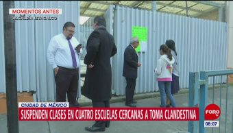 Próximo 28 de agosto reanudarán clases en escuelas de Granjas México por toma clandestina