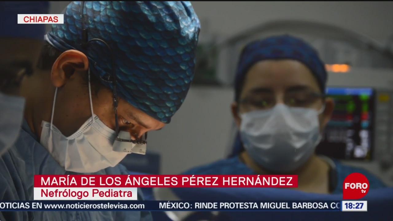 FOTO: Realizan trasplante de riñón de padre a hija en Chiapas