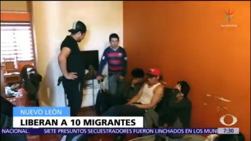 Rescatan a 10 migrantes ecuatorianos en Nuevo León