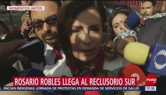 Foto: Rosario Robles Llegó Reclusorio Sur Para Audiencia