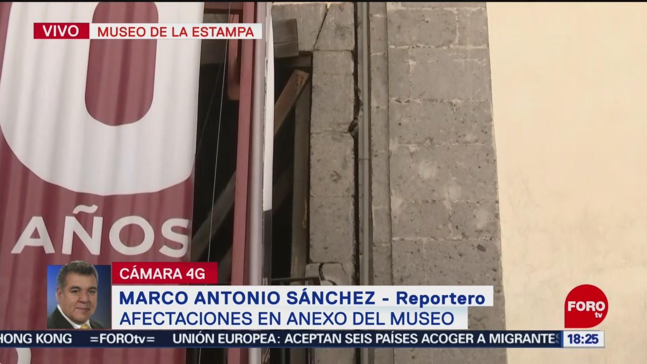 FOTO: Derrumba parte anexo Museo Estampa CDMX,