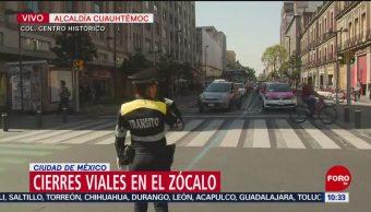 FOTO: Se registran cierres viales en la plancha del Zócalo capitalino, 31 Agosto 2019