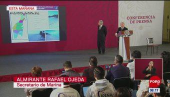 Semar presenta informe sobre plan contra sargazo en Quintana Roo