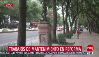Foto: Trabajos Mantenimiento Reforma Cdmx 27 Agosto 2019