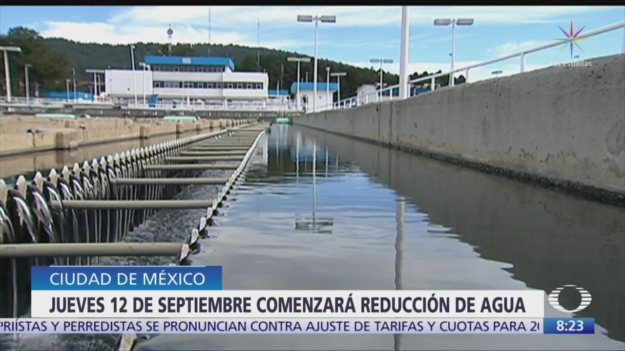 12 de septiembre inicia reducción a suministro de agua en CDMX