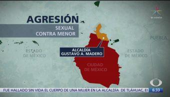 Adolescente sufre abuso sexual en la Gustavo A. Madero