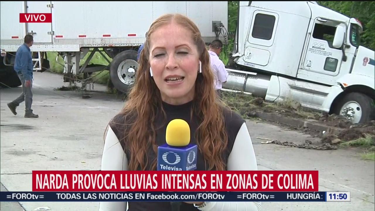 FOTO:Afectaciones de 'Narda' provoca accidente vial en Colima, 30 septiembre 2019