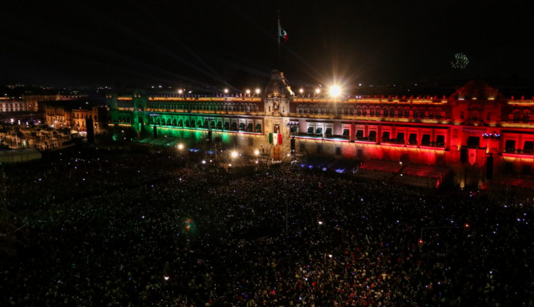 FOTO AMLO dio su primer Grito de Independencia con arenga de 98 segundos, la más larga (Galo Cañas/Cuartoscuro)