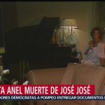 FOTO: Anel lamenta la muerte de José José, 28 septiembre 2019