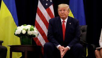 Foto: Presuntamente Trump presionó al mandatario de Ucrania para investigar a uno delo favoritos demócratas, Joe Biden, 25 de septiembre de 2019 (AP)