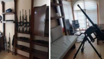 Armas aseguradas en Zapopan, Jalisco.
