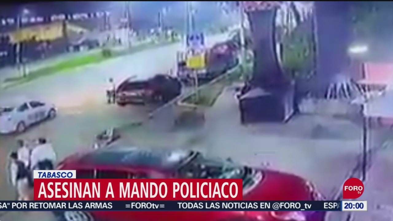 FOTO: Asesinan a mando policíaco en Tabasco, 14 septiembre 2019