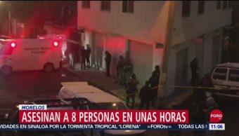 Asesinan a ocho personas en Cuernavaca, Morelos