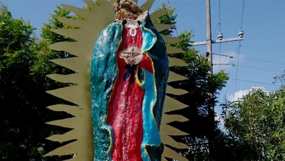 Foto:Arrancan manos y cara virgen guadalupe sinaloa. 24 septiembre 2019