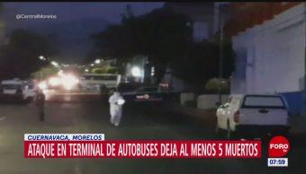 Ataque en terminal de autobuses deja 5 muertos en Cuernavaca, Morelos