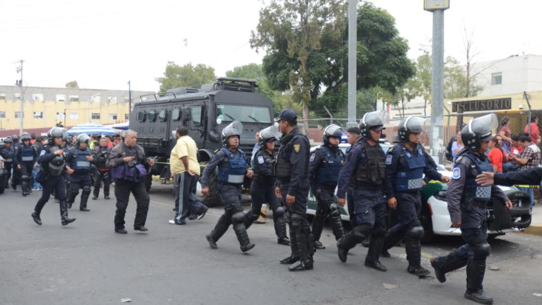 Foto: Cuerpos policiales ingresaron al penal, 12 de septiembre de 2019 (Cuartoscuro)