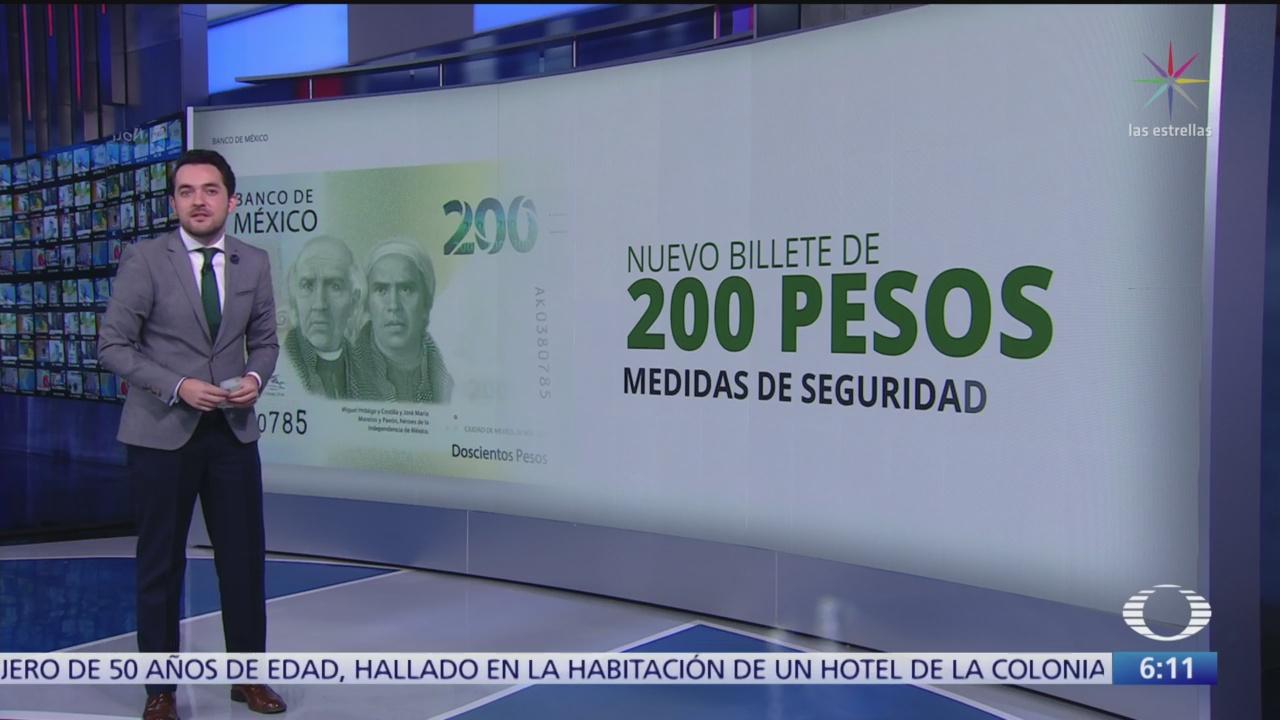 Características del nuevo billete de 200 pesos