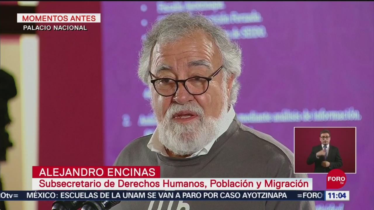 Caso de normalistas es 'desaparición forzada', dice Encinas