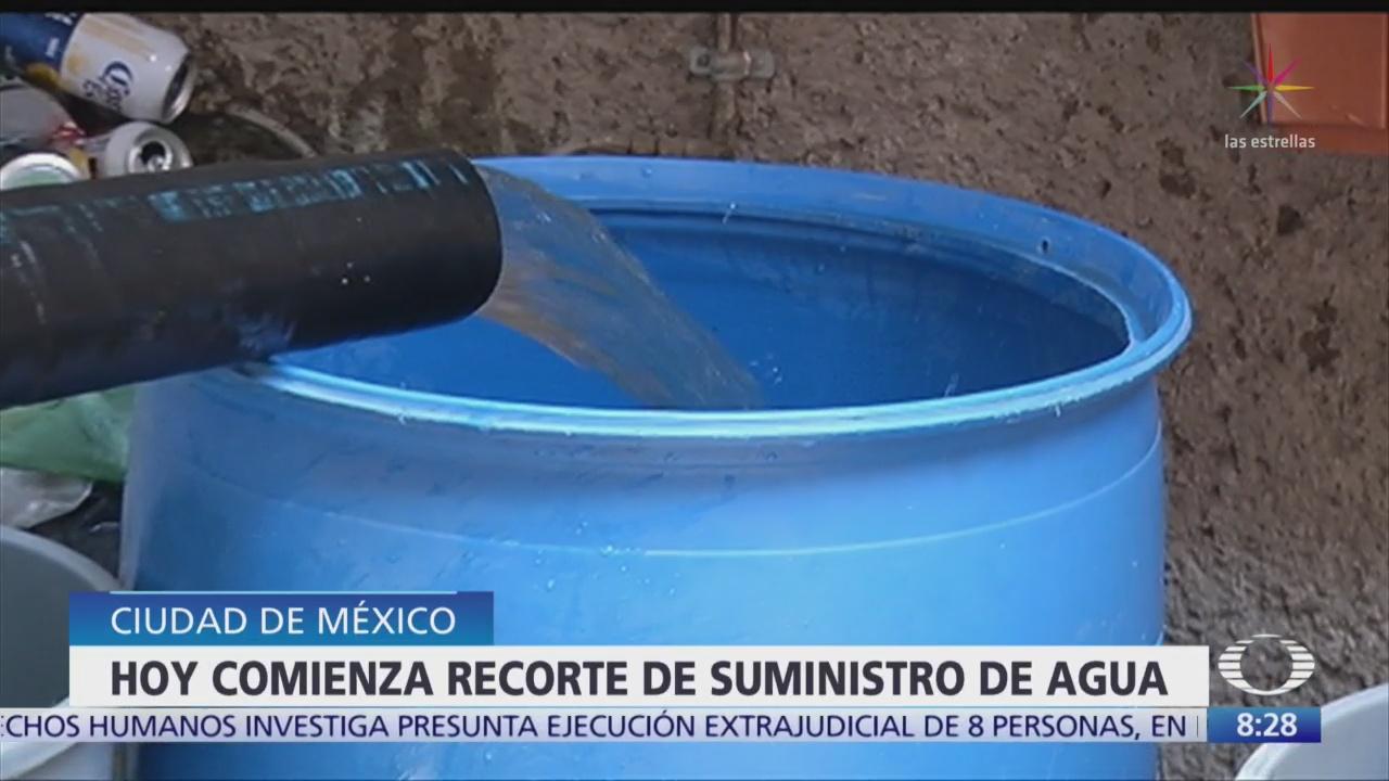 CDMX reduce suministro de agua potable por lluvia escasa