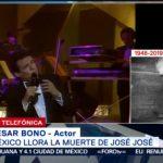 FOTO: César Bono fue una de las últimas personas en ver con vida a José José, 28 septiembre 2019