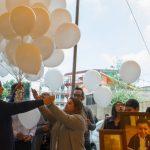 Con misa y globos recuerdan a víctimas del colegio Rébsamen