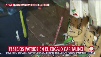 FOTO: Comerciantes aprovechan Grito de Independencia para vender figuras de AMLO, 15 Septiembre 2019