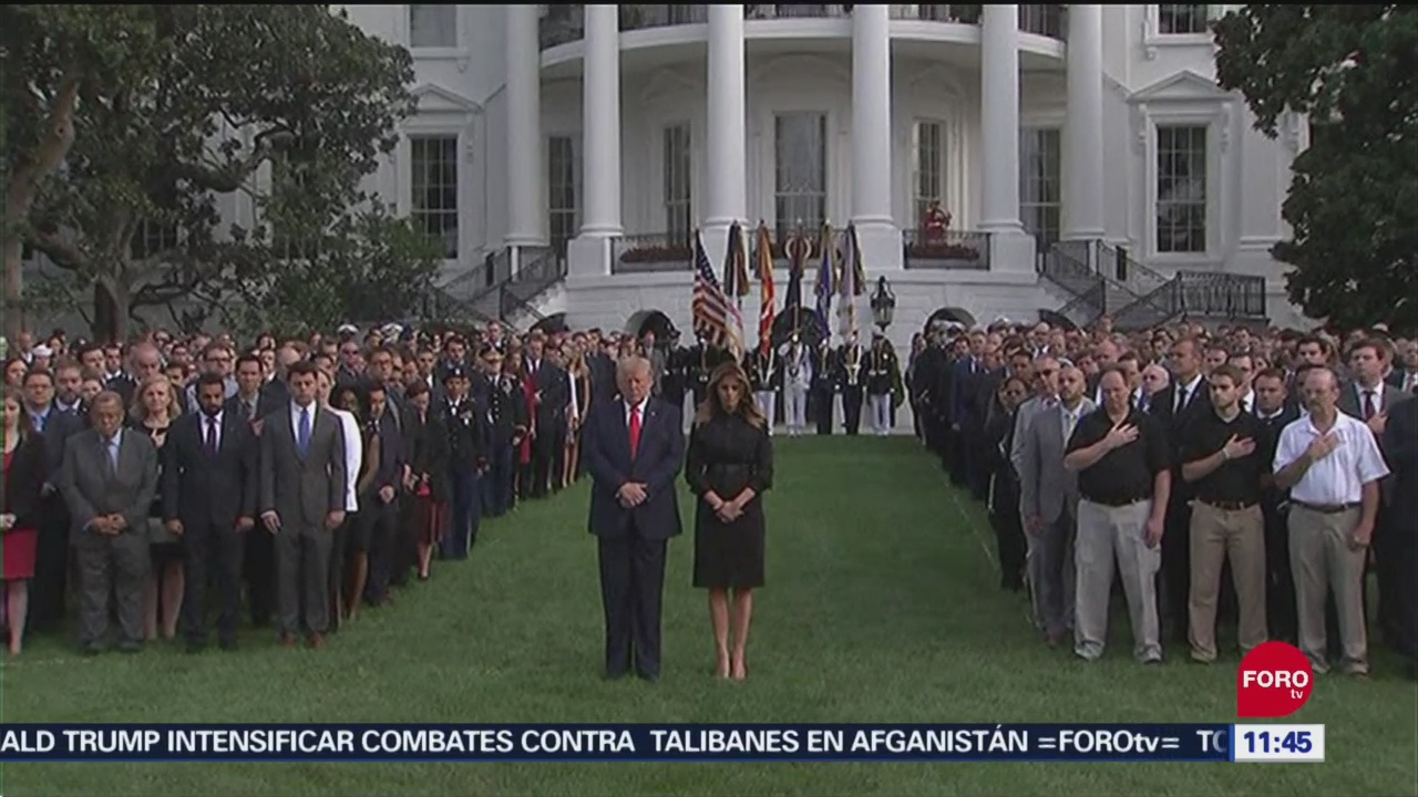 Conmemoran atentados del 11 de septiembre en Estados Unidos