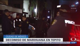 Decomisan marihuana en inmueble de Tepito, CDMX