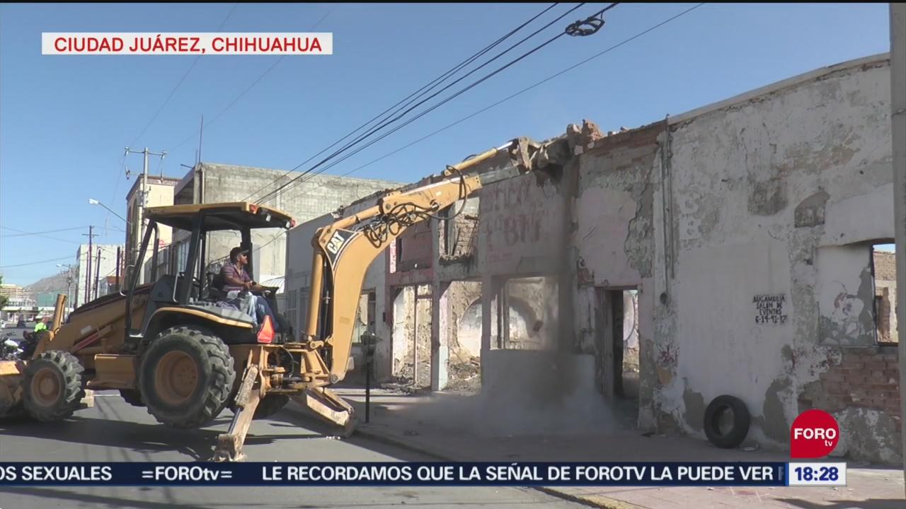 Foto: Derriban Viviendas Abandonadas Ataques Sexuales Juarez Chihuahua 24 Septiembre 2019