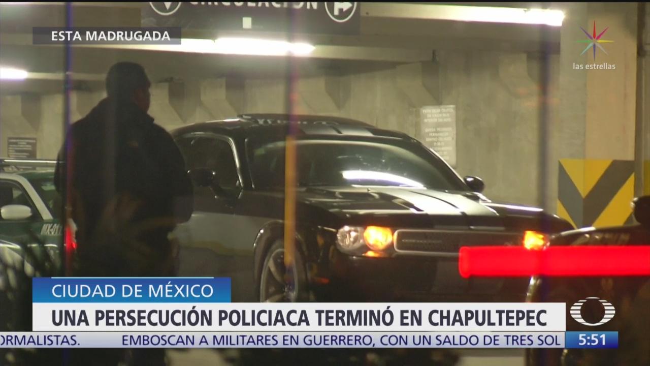 Foto: Detienen Cuatro Personas Tras Persecución Policíaca CDMX,