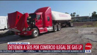 FOTO: Detienen a seis por robo de gas LP en el Estado de México, 7 septiembre 2019