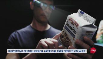 FOTO: Dispositivo ayuda a invidentes a leer y reconocer rostros, 29 septiembre 2019