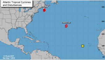 Foto: El huracán Dorian volvió a fortalecerse mientras se aproxima a Canadá, 7 de septiembre de 2019 (NHC)