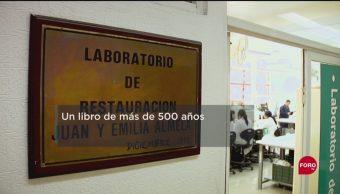 FOTO: El libro más antiguo que hay en la Biblioteca Central de la UNAM, 29 septiembre 2019