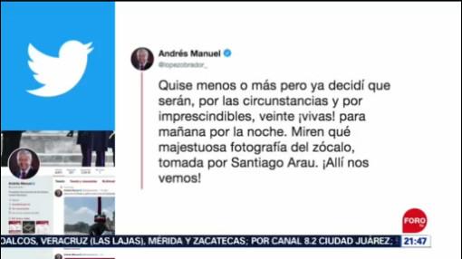 FOTO: El presidente López Obrador anunció que dará 20 'vivas' durante Grito de Independencia, 14 septiembre 2019