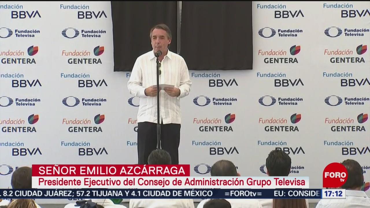 Foto: Emilio Azcárraga BBVA Entregan Escuela Chiapas