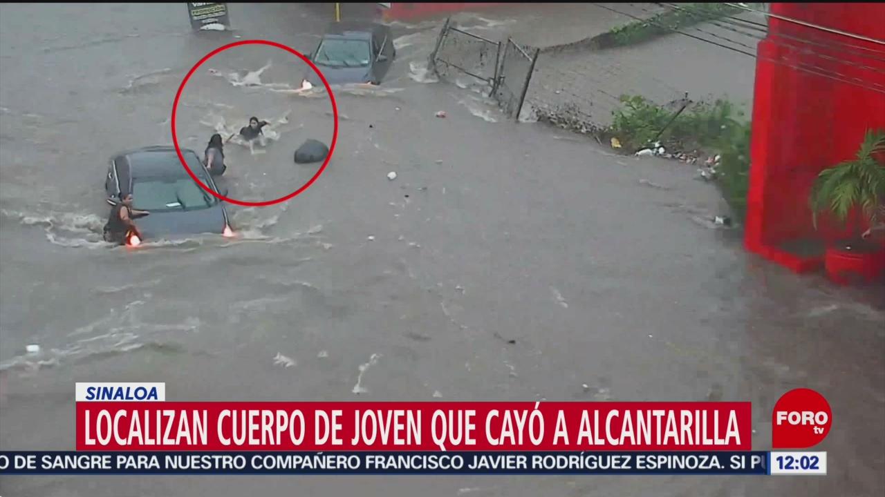 Encuentran cuerpo de mujer que cayó en alcantarilla durante inundación, en Sinaloa