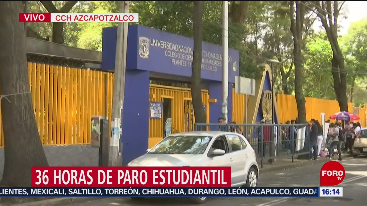 FOTO: Estudiantes cparo de 36 horas en CCH Azcapotzalco