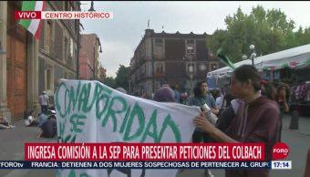 Foto: Estudiantes Colegio Bachilleres Manifiestan Sep 24 Septiembre 2019