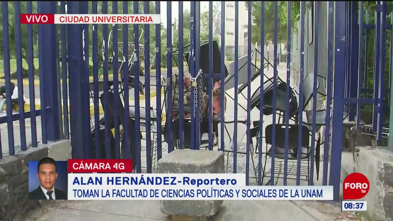 Estudiantes toman la Facultad de Ciencias Políticas y Sociales de la UNAM