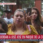 FOTO: Fans recuerdan a José José en Parque de la China, 28 septiembre 2019