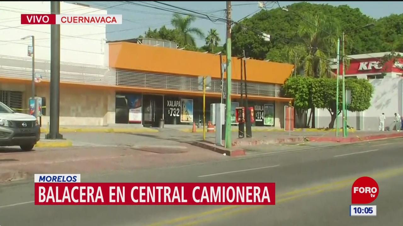 Fiscalía recaba pruebas tras balacera en Central Camionera de Cuernavaca